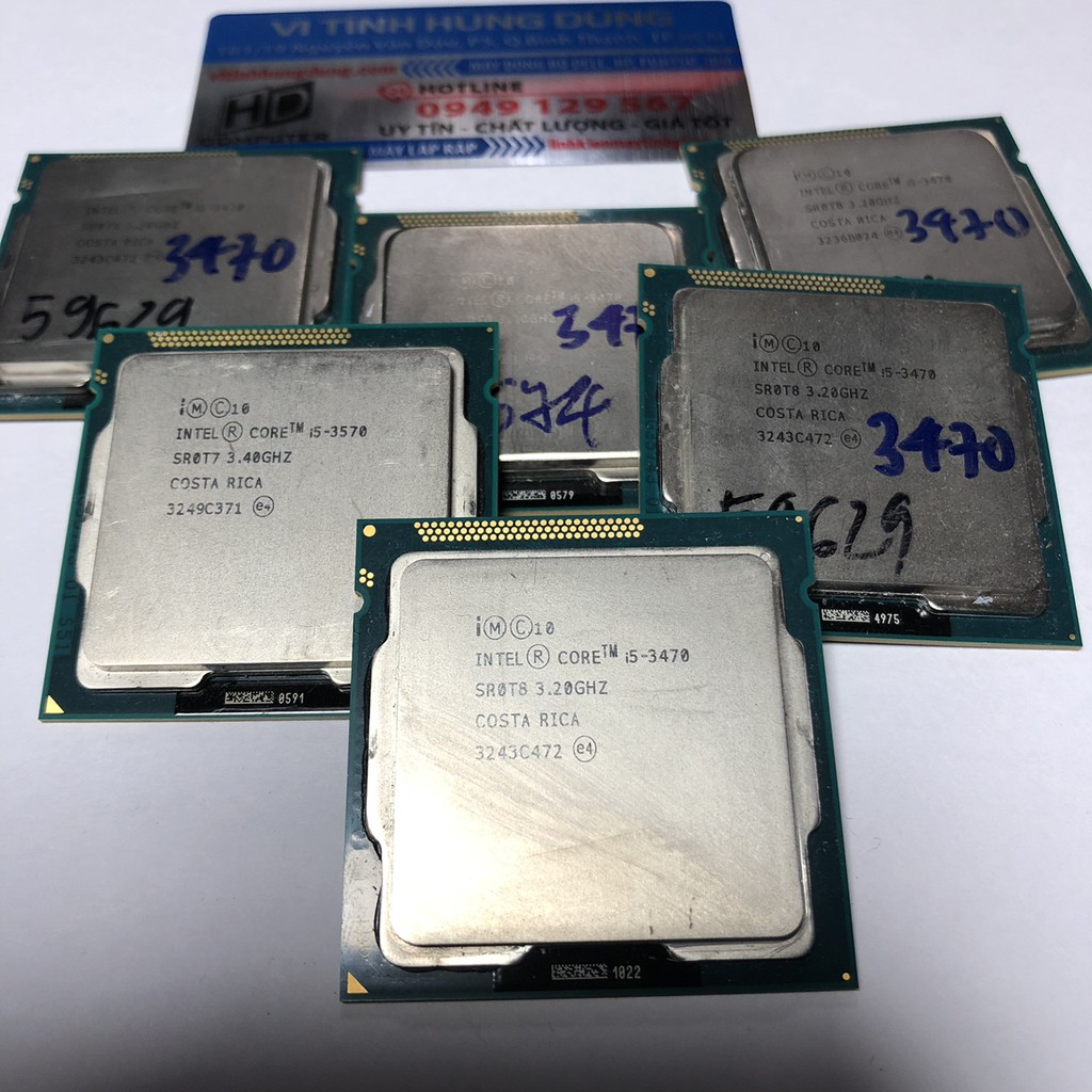 CPU core i5 socket 1155, i5 2320, i5 2400, i5 2500, i5 3330s,i5 3450, i5 3470, i5 3470s, i5 3550, i5 3570