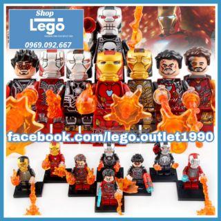 Xếp hình Iron Man - Tony Stark tuyển tập mới nhất 2019 Lego Minifigures PRCK GD230 237 thumbnail