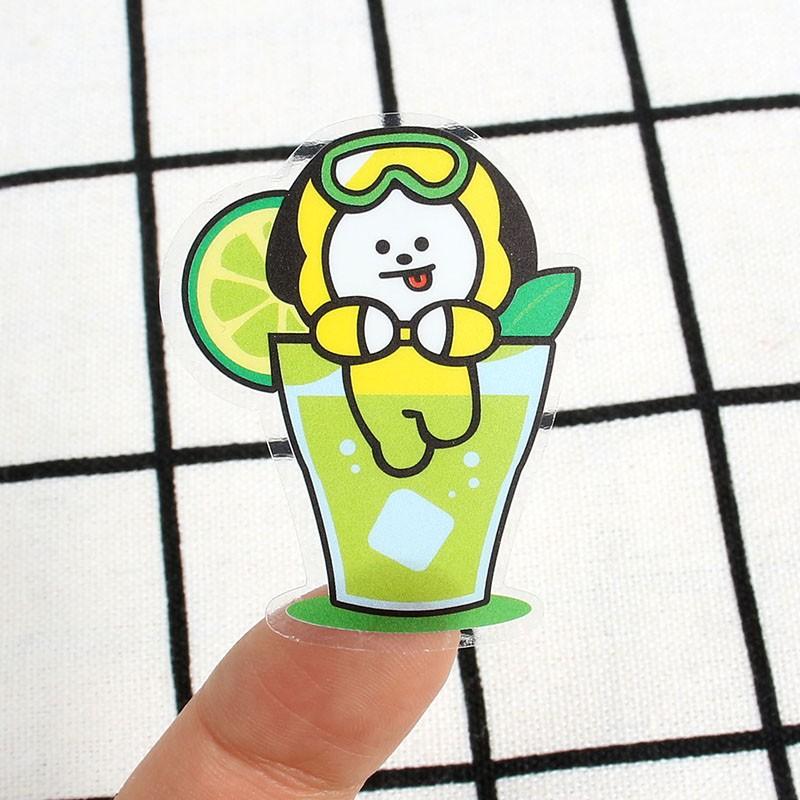 Nhãn dán trang trí họa tiết BT21 BTS Kpop 3D