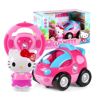 Hello Kitty Cat Doraemon Remote Control Car with Music & Light