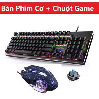 Combo Bàn Phím Cơ H650 Và Chuột Gaming V5 Led Đổi Màu Cao Cấp, Keyboard Có 10 Chế Độ Led Blue Switch Chơi Game Siêu Đã thumbnail