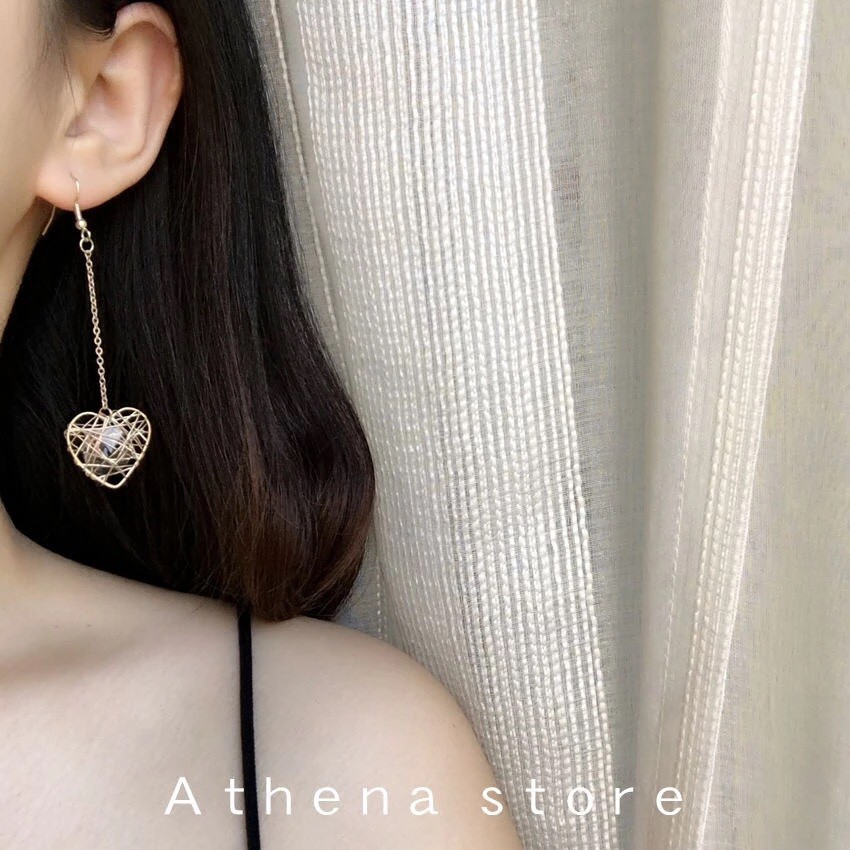 Bông tai siêu xinh giá rẻ_Bông tai hình trái tim, ngôi sao dán