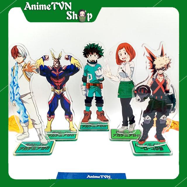 Tượng Mica Standee anime/manga My Hero Academia (Boku no Hero) – Nhựa Cứng Acrylic In nhiều chi tiết sắc nét