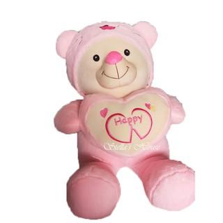 [GIÁ SỈ]Gấu bông Teddy đội mũ Lông thỏ cao cấp siêu mịn 90cm
