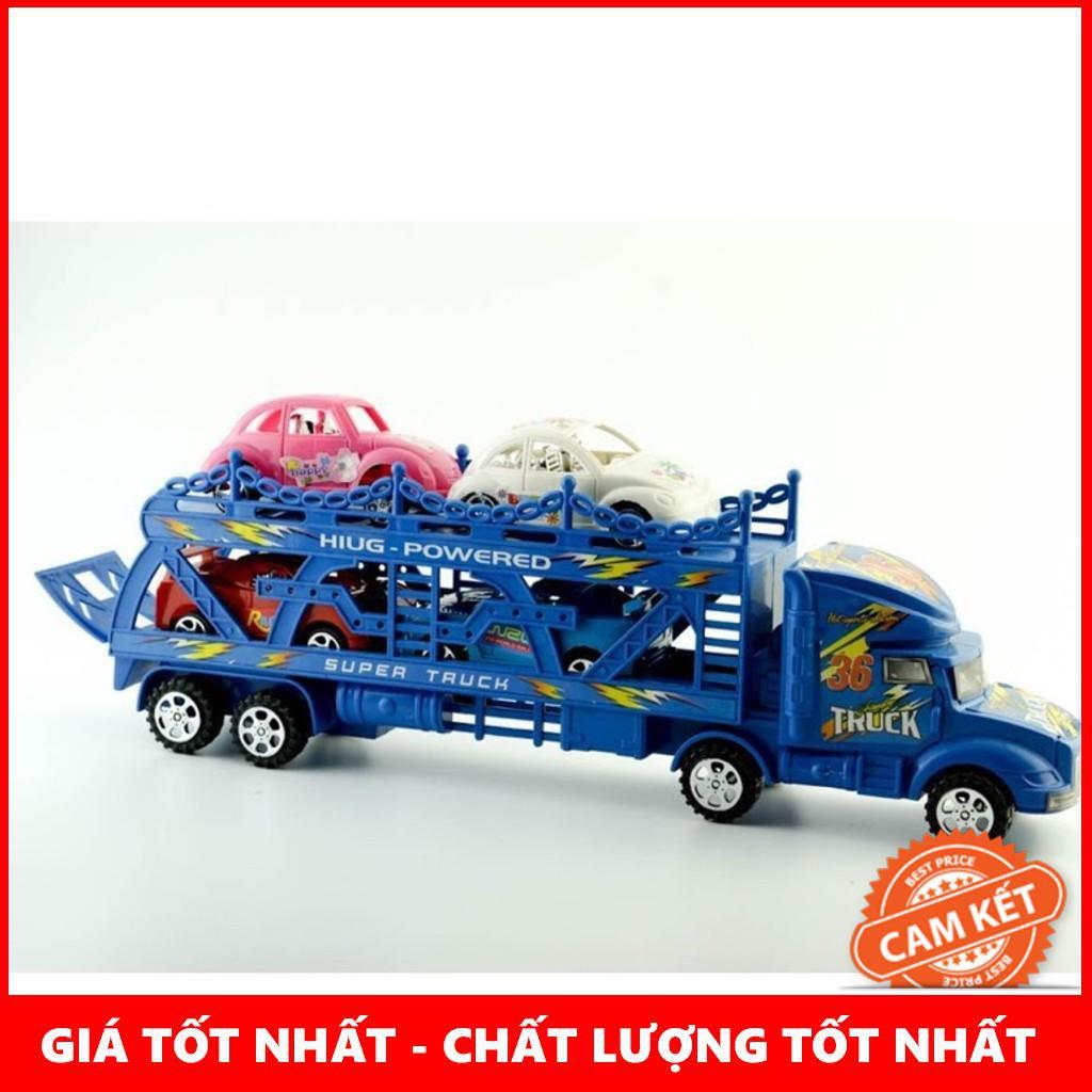 [Giá Rẻ Nhất] Bộ sản phẩm đường đua 56 chi tiết + bộ xe tải chở ô tô con