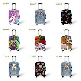 Túi bọc bảo vệ vali Coolost 2 khoá, vải thun co giãn chống xước chống bụi thumbnail