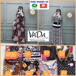 Đầm BIG SIZE (hàng đẹp Sale Lẻ Size số lượng có hạn) - Đầm xòe các họa tiết tay lỡ có dây cột eo - VADA + HT Sale thumbnail