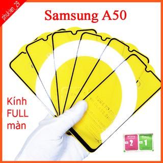 Kính cường lực Samsung A50 full màn hình, Ảnh thực shop tự chụp, tặng kèm bộ giấy lau kính taiyoshop2 thumbnail