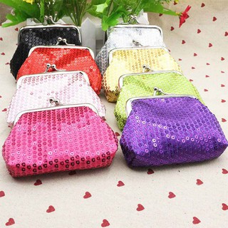 Womens Small Sequin Wallet Card Holder Coin Purse Clutch Handbag for Festival Gift