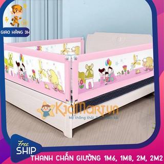 [GIAO 2H] Thanh chắn giường an toàn cho bé 1M8, 2M, 2M2, 1M6 Aachmann CB-1010 trượt lên xuống cao 82 cm giá bán 1 thanh thumbnail