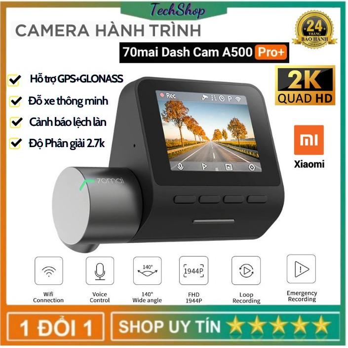 Camera Hành Trình 70mai Pro plus A500 Bản Quốc Tế - Tích hợp sẵn GPS,2.7K Ultra HD Video - Bảo Hành 2 Năm