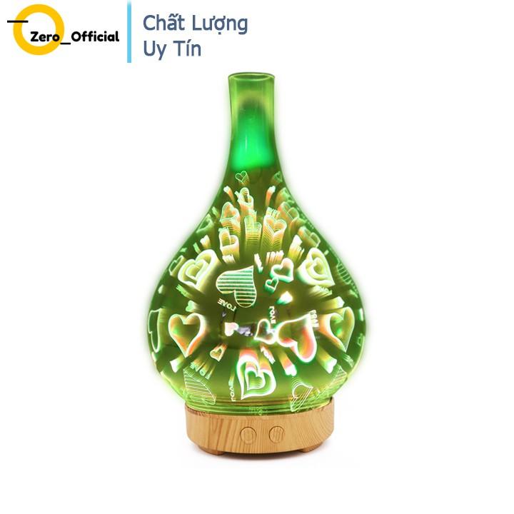 Máy xông tinh dầu 3D Goden House 200ml, Khuếch tán tinh dầu tạo ẩm thanh lọc không khí -Tặng 1 lọ tinh dầu.