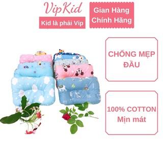 Gối chống bẹp đầu Carekids, gối cho bé chất liệu 100% cotton mịn, mát - VIPKID thumbnail