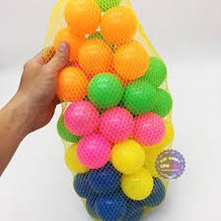 bô 50 bóng nhựa 7cm chơi nhà banh nhiều màu sắc cho bé