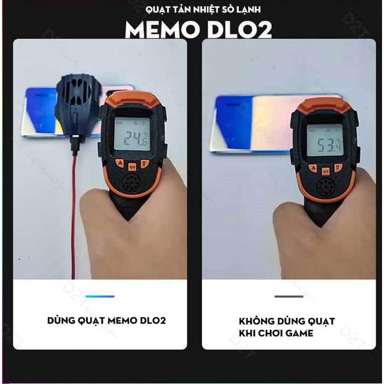 Quạt tản nhiệt gaming sò lạnh siêu mát Memo DL02 cho điện thoại có nút bật tặng kèm dây sạc Type c Lightning