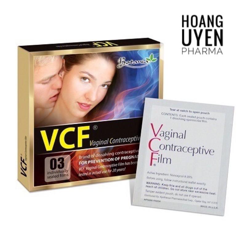 Màng phim tránh thai VCF - Hộp 3 tờ