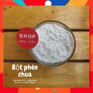 Bột phèn chua chưng cất khử mùi hôi nách,hôi chân, nguyên chất 100%, bột siêu mịn