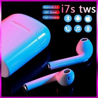 Tai nghe không dây kết nối Bluetooth I7S, i12 TWS thiết kế nhét tai mini dành cho điện thoại Android iPhone