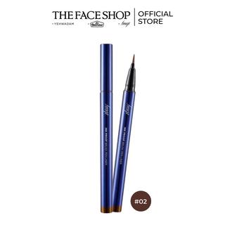 Bút Kẻ Viền Mắt Trang Điểm TheFaceShop Fmgt. Ink Proof Brush Pen Liner 02 Brown 0.6g thumbnail