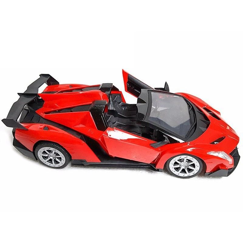 MIỄN PHÍ VẬN CHUYỂN + TẶNG BAO LÌ XÌ - Xe điều khiển Ferrari sạc, Sport Car mở cửa vô lăng 1810G (Đỏ