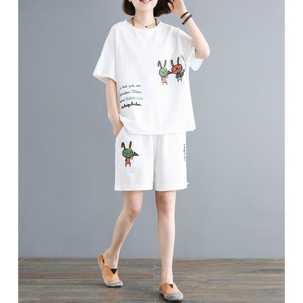 Mặc gì đẹp: Mát mẻ với Quần Áo Ngủ Tiểu Thư ⚡𝐅𝐫𝐞𝐞𝐒𝐡𝐢𝐩⚡ Đồ Bộ Thun Nữ Mặc Nhà  Mùa Hè ⚡  Chất Cotton Mát Lạnh Siêu Cute⚡ Set Bộ Pijama Đẹp