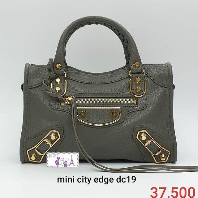 Balenciaga Mini City Edge DC19 เทา ทองม