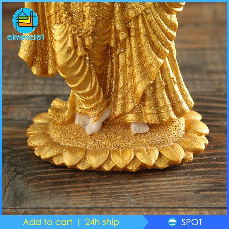 Đồ trang trí Tượng Phật Ấn Độ Bằng Nhựa Resin Dùng Trang Trí Nhà Cửa / Sân Vườn Almencla1