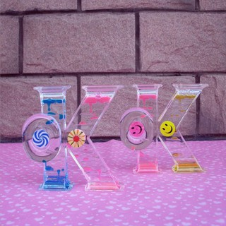 Floating Colored Oil Liquid Bubbler Motion Timer Hourglass Relief Toy OK