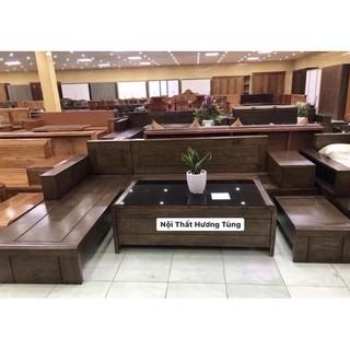 Ghế sofa gỗ decor hiện đại sang trọng ngang 2m4