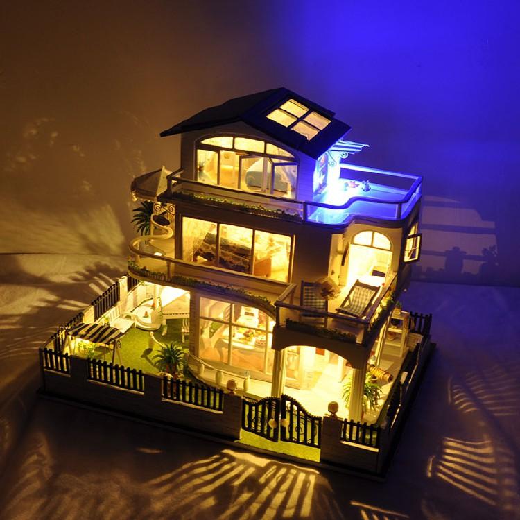 Mô hình nhà gỗ búp bê dollhouse DIY - TB9 Vancouver