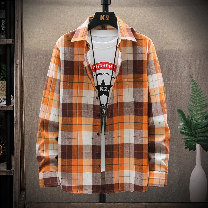 Áo Sơ Mi Cotton Tay Dài Màu Trơn Dễ Phối Đồ Thời Trang Mùa Hè Cho Nam Size M-5xl 208