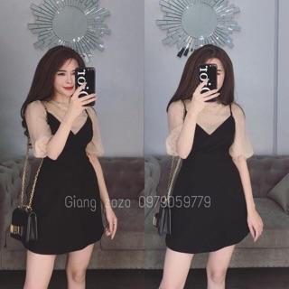 Váy Phối tay Bồng siêu xinh