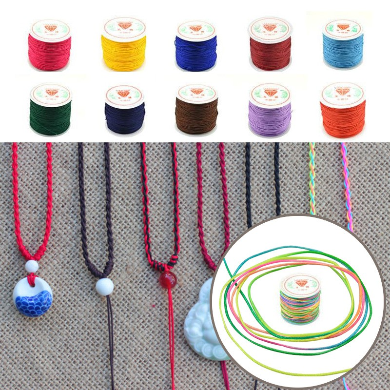 1 Roll 45M 0.8MM Nylon Chinese Knot Bracelet Braided Cord