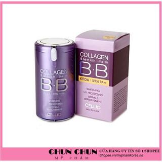 [Hàng Auth Hàn Quốc] Kem nền trang điểm chống nắng BB Cream Collagen Cellio SPF 40 PA++Hàn Quốc giúp da trắng sáng