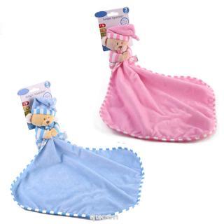Cartoon Bear Infant Newborn Baby Reassure Dolls Soothe Square Appease Towel Plush