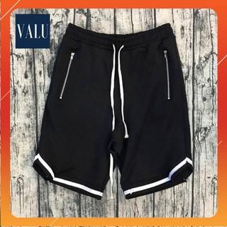 Quần short 1v vline unisex – Quần short nam nữ thể thao form rộng vải thun co dãn tập gym màu đen cá tính | Valu Store