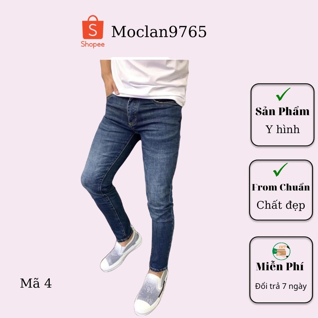 Quần jean nam cao cấp, chất liệu bò ( jean ) mềm mịn, from chuẩn, có nhiều mẫu đi kèm Moclan09