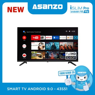 "Smart TV iSLIM PRO 43""- 43S51 (Android 9.0 Pie – 2020)"