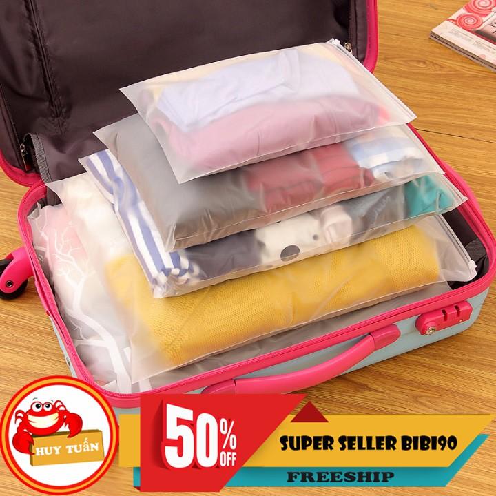 Túi đựng đồ lụa mờ khóa zip nhiều kích thước