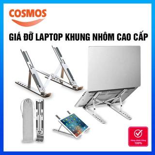 Giá Đỡ Laptop Bằng Nhôm Cao Cấp Có Túi Đựng, Laptop Stand Giá Tản Nhiệt Laptop Xếp Gọn & Điều Chỉnh Độ Cao Cosmos
