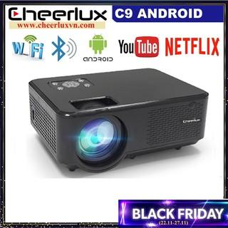 Máy chiếu Android Cheerlux C9, độ sáng 2800 lumens, kết nối WIFI, Bluetooth. Xem nét 100