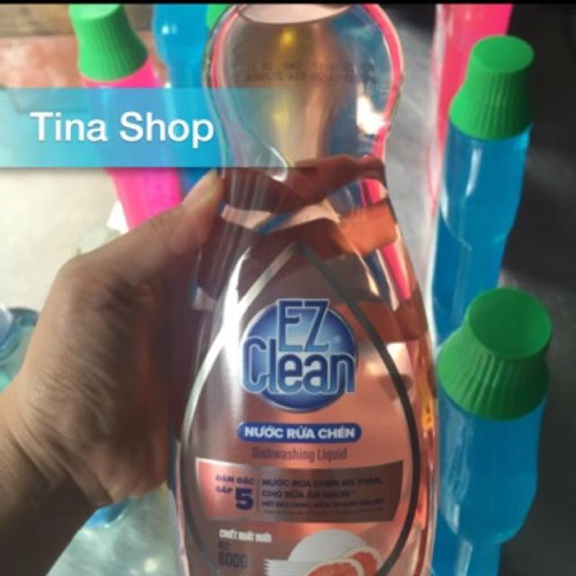 Nước rửa chén EZ Clean 800ml 20k/chai , giá niêm yết 27k