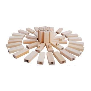 Rút gỗ số thông minh 48 thanh loại to – Domino gỗ cho bé