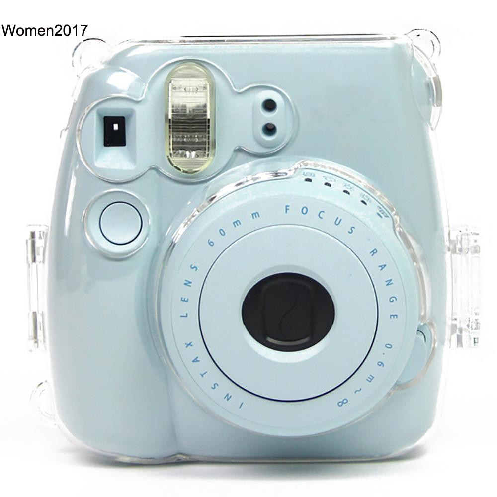 WMDS_Durable Transparent Instant Camera Case Cover for Checky Instax Mini 8/8+/9