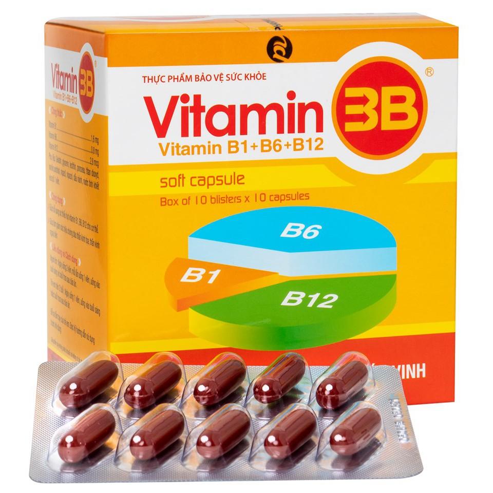 VITAMIN 3B PHÚC VINH ( Hộp 100VIÊN NANG MỀM) | Shopee Việt Nam
