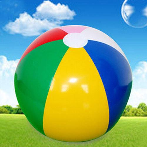 40cm Fashion Inflatable Balls Balloon Traditional 6 Color Beach Ball Glossy Vinyl Giant Pool Toy Fun Inflatable Ball