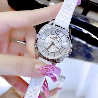 Đồng Hồ Nữ Coach 14502093 Dây Silicon Trắng Silver Chính Hãng 34mm thumbnail
