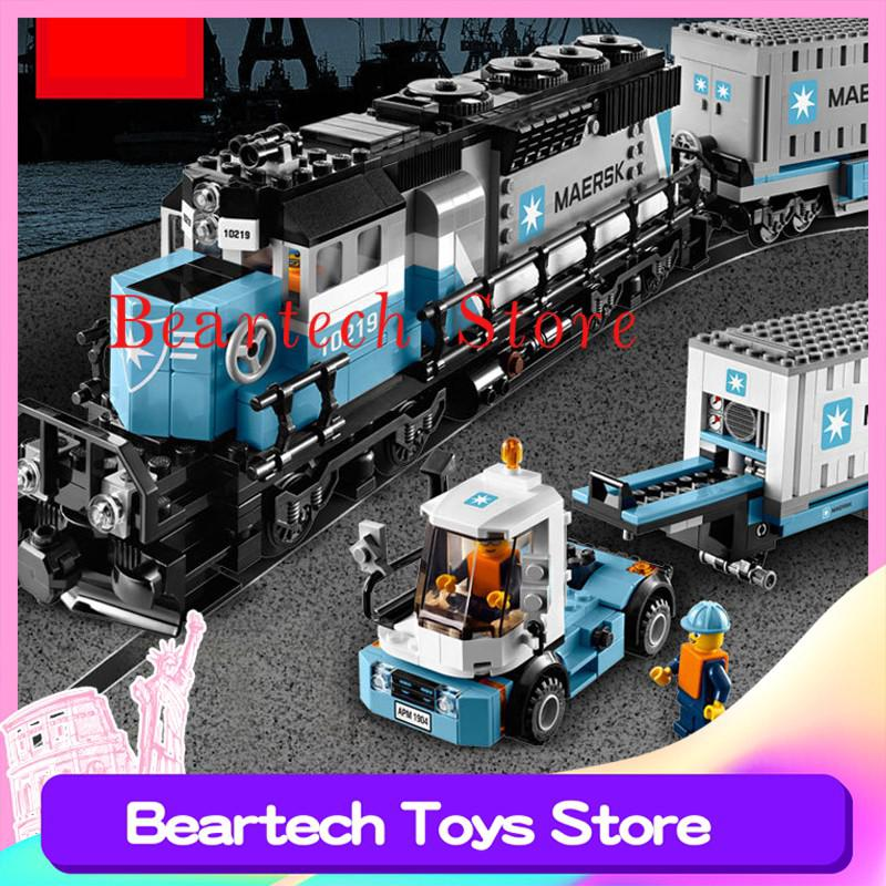 Lepin 21006 Technic Maersk Train Compatible Lego 10219 Train Building Blocks Bricks Toys Children Education MOC