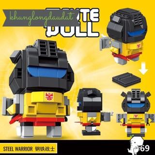 [Có Sẵn] Mini Block – Mô Hình Lắp Ghép – Lego Mini CuteDoll Steel Warrior Size Vừa