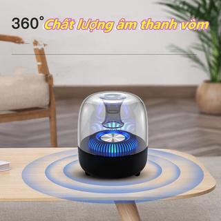 Loa Bluetooth Ánh sáng đầy màu sắc trong suốt sáng tạo âm thanh nhỏ thumbnail